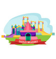 castles inflatable set for summer rest isolated on vector image vector image