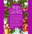 christmas card with festive new year wreath vector image