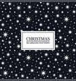 christmas seamless star pattern - xmas design vector image vector image