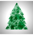 christmas tree made by spilled paint splashes vector image
