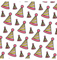 color party hat line decoration background vector image vector image