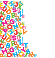 Colorful alphabet background vector image vector image