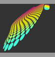 colorful dotted dynamic waves for website design vector image vector image