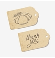 Craft paper tags with THANK YOU hand lettering and vector image