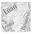 Creating small business loans online Word Cloud vector image vector image