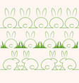 cute rabbits or bunnys vector image