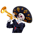 day dead trumpet player vector image