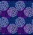 deep blue hydrangea bouquet seamless pattern vector image
