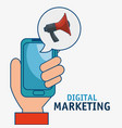 digital marketing technology icon vector image