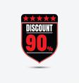 discount icon vector image vector image