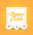 easter background with daisies vector image vector image