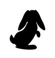 easter bunny silhouette vector image vector image