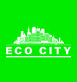 eco city skyline vector image vector image