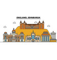 england edinburgh city skyline architecture vector image vector image