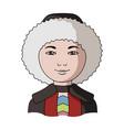 eskimohuman race single icon in cartoon style vector image vector image