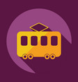 flat modern design with shadow icon tram vector image vector image