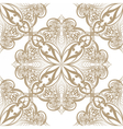 floral round element vector image vector image