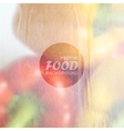food background of red and yellow peppers with old vector image vector image