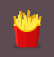 French fries in flat style vector image vector image