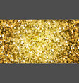 gold star glitter background vector image vector image