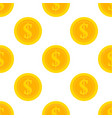 golden dollar coins seamless pattern vector image
