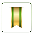 Green gold bookmark banner isolated vector image vector image
