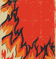 Grunge fire background vector