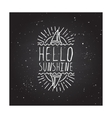 Hand-sketched typographic element with sailing vector image vector image