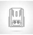Heating equipment flat line icon vector image vector image
