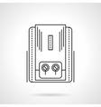 Heating equipment flat line icon vector image