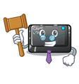 judge capslock button isolated with cartoon vector image