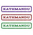 kathmandu watermark stamp vector image vector image