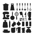 Kitchenware silhouette icons vector image vector image