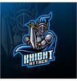 knight sport mascot logo design vector image