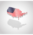 map and flag usa isolated vector image vector image