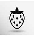 monochrome of strawberries logo food vector image vector image