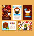 oktoberfest holiday flat posters templates vector image vector image