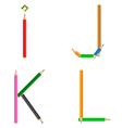 pencils alphabet vector image vector image