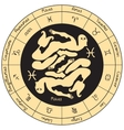 Pisces with the signs of the zodiac vector image vector image