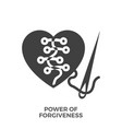 power of forgiveness glyph icon vector image