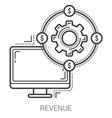 Revenue line icons vector image vector image