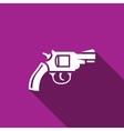 Revolver icon vector image vector image
