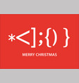 santa claus smiley christmas card vector image vector image