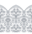 seamless gray lace vector image vector image