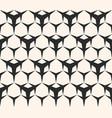 seamless pattern triangular lattice with hexagons vector image