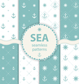 seamless patterns aqua background Set wallpaper vector image vector image