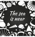 seashells chalkboard poster design vector image