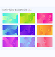 set beautiful dynamic shapes and vibrant vector image vector image