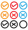 set checkbox icon on white background set vector image