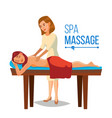spa therapy woman takes a spa in a beauty vector image